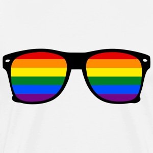 Glasses Rainbow - T-shirt Gay Pride - Premium-T-shirt herr