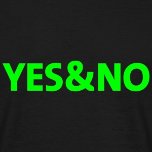 yes and no-T-Shirt - Männer T-Shirt