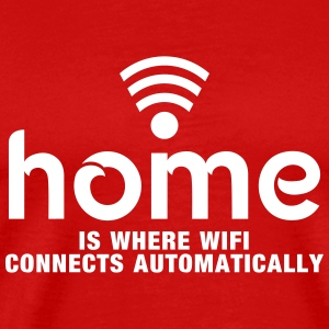 home is where the wifi connects automatically T-skjorter - Premium T-skjorte for menn