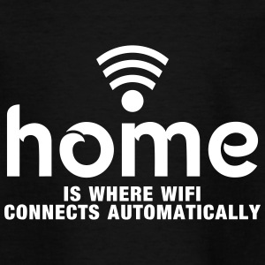 home is where the wifi connects automatically Koszulki - Koszulka młodzieżowa