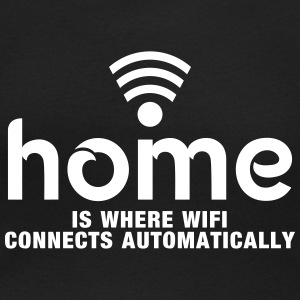 home is where the wifi connects automatically T-Shirts - Frauen T-Shirt mit U-Ausschnitt