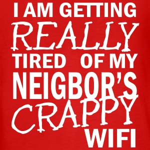 i am getting really tired of my neigbor's wifi  Långärmade T-shirts - Långärmad premium-T-shirt tonåring