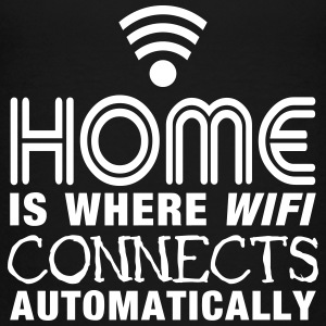 home is where the wifi connects automatically II T-shirts - Premium-T-shirt tonåring