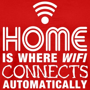 home is where the wifi connects automatically II Tee shirts - T-shirt Premium Homme