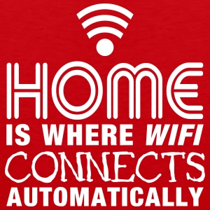 home is where the wifi connects automatically II Ropa deportiva - Tank top premium hombre
