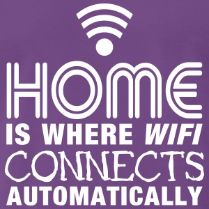 home is where the wifi connects automatically II T-Shirts - Männer Premium T-Shirt
