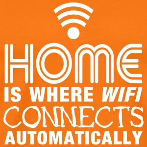 home is where the wifi connects automatically II T-shirts - Herre premium T-shirt