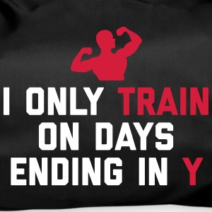 Train Days Ending Y Gym Quote Bags & Backpacks - Duffel Bag