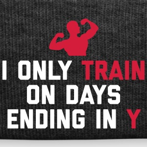 Train Days Ending Y Gym Quote Kepsar & mössor - Vintermössa