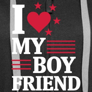 I LOVE MY FRIEND! Hoodies & Sweatshirts - Women's Premium Hooded Jacket