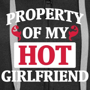 PROPERTY OF MY HOT GIRLFRIEND! Hoodies & Sweatshirts - Women's Premium Hooded Jacket