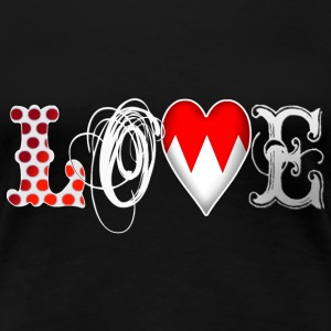 Love Franconia White - Frauen Premium T-Shirt
