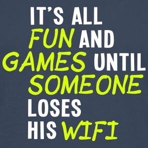 it's all fun and games until... wifi ii 2c Long sleeve shirts - Men's Premium Longsleeve Shirt