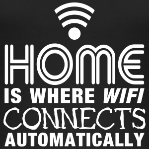 home is where the wifi connects automatically II2c Tops - Women's Organic Tank Top