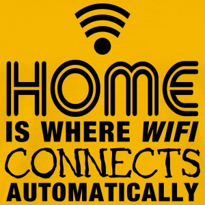 home is where the wifi connects automatically II2c T-Shirts - Men's Premium T-Shirt