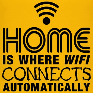 home is where the wifi connects automatically II2c T-shirts - Premium-T-shirt barn