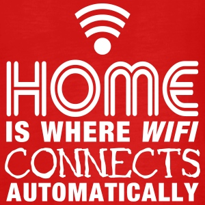 home is where the wifi connects automatically II2c Langærmede shirts - Teenager premium T-shirt med lange ærmer