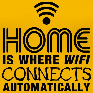 home is where the wifi connects automatically II2c T-shirts - Dame premium T-shirt