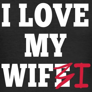 I love my wife I / I love my wifi I 2c T-Shirts - Men's Slim Fit T-Shirt