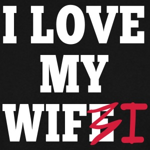 I love my wife I / I love my wifi I 2c Tröjor - Herrtröja