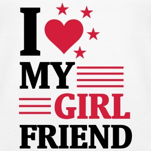 I LOVE MY GIRLFRIEND! Tops - Women's Premium Tank Top