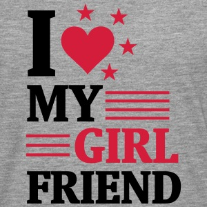 I LOVE MY GIRLFRIEND! Long sleeve shirts - Men's Premium Longsleeve Shirt