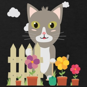Cat in the garden with flowers Shirts - Kids' Organic T-shirt