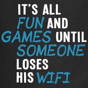 it's all fun and games until... wifi ii 2c Fartuchy - Fartuch kuchenny
