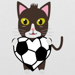 Chat avec le football Sacs et sacs à dos - Tote Bag
