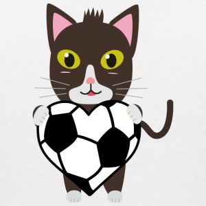 Cat with football T-Shirts - Women's V-Neck T-Shirt