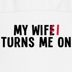 my wife turns me on 2c / my wifi turns me on Fartuchy - Fartuch kuchenny