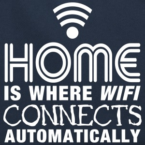 home is where the wifi connects automatically II Sacs et sacs à dos - Sac Retro