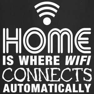 home is where the wifi connects automatically II Tabliers - Tablier de cuisine
