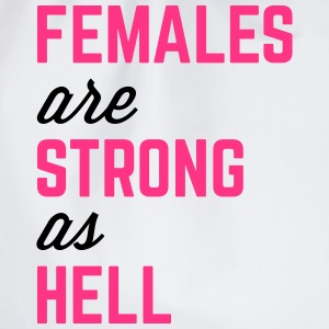 Females Strong Hell Gym Quote Bags & Backpacks - Drawstring Bag