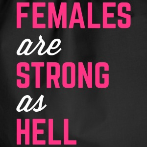 Females Strong Hell Gym Quote Taschen & Rucksäcke - Turnbeutel