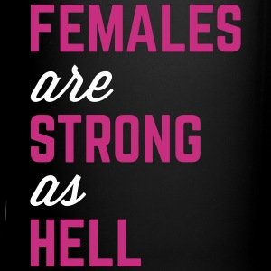 Females Strong Hell Gym Quote Tassen & Zubehör - Tasse einfarbig
