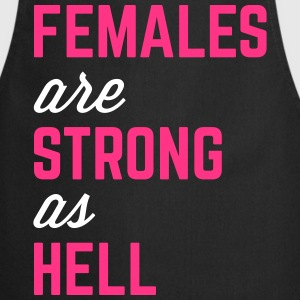 Females Strong Hell Gym Quote Fartuchy - Fartuch kuchenny