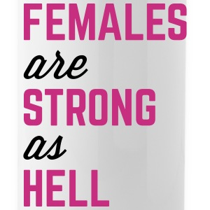 Females Strong Hell Gym Quote Mugs & Drinkware - Water Bottle