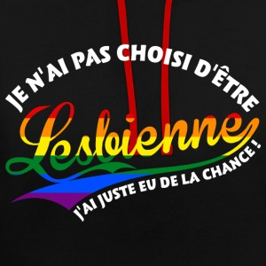 Lesbienne chanceuse  Sweat-shirts - Sweat-shirt contraste