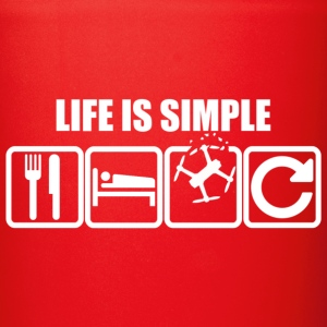 Life Is Simple Weiss - Tasse einfarbig