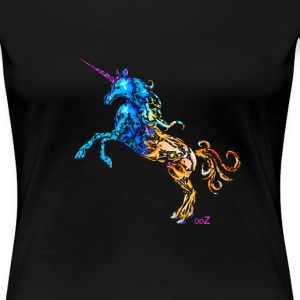 Flaming Unicorn Tee shirts - T-shirt Premium Femme