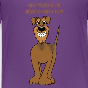 Airedale Terrier Smile - Teenager Premium T-Shirt