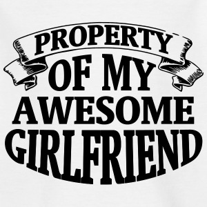 PROPERTY OF MY HORNY GIRLFRIEND! Shirts - Teenage T-shirt