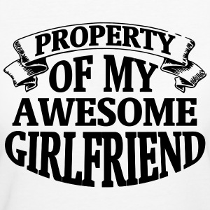 PROPERTY OF MY HORNY GIRLFRIEND! T-Shirts - Women's Organic T-shirt