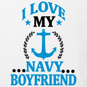 I LOVE MY FRIEND WHO WORKS IN THE NAVY! Shirts - Kids' Organic T-shirt