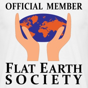 Official Member Flat Earth Society T-Shirts - Men's T-Shirt
