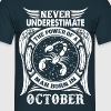 ...Power Of A Man Born In October, Scorpio Sign T-Shirts - Men's T-Shirt