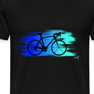 Bike speed blue Tee shirts - T-shirt Premium Homme