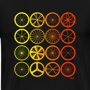 Bike wheels land orange Tee shirts - T-shirt Premium Homme