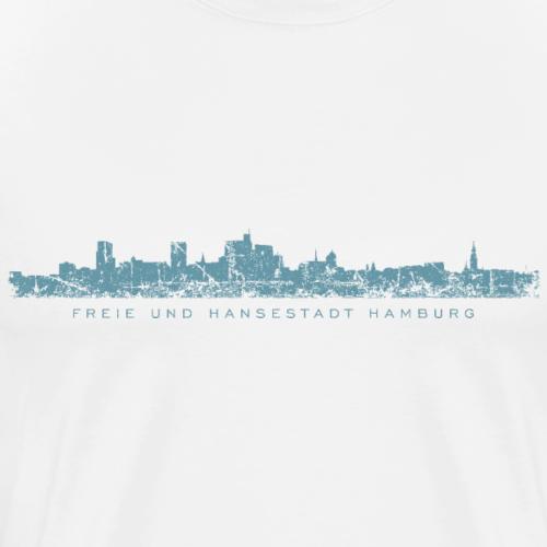 Freie und Hansestadt Hamburg Skyline Blau